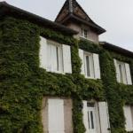 maison avec plantes sur façade